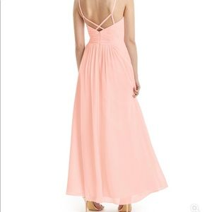 Azazie Dresses - Azazie Paola Bridesmaid Dress - Coral - A6
